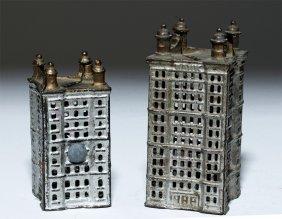Pair Of Cast Iron Skyscraper Still Banks