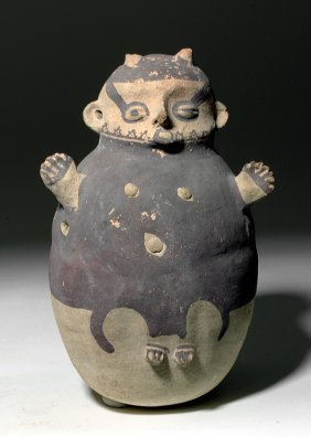 Chancay Pottery Human-form Jar