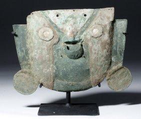 Pre-columbian Lambayeque (sican) Bronze Mask