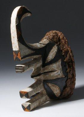 20th C. African Wood Mma Ji Yam Festival Mask