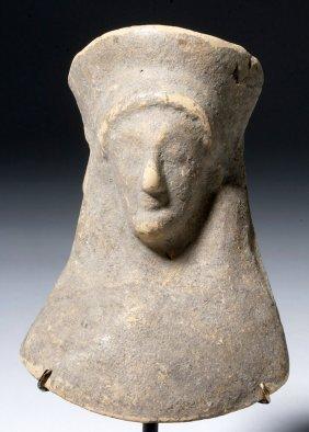 Ancient Greek Terracotta Archaic Goddess Protome Bust