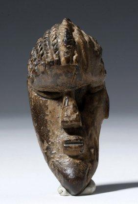African Dan / Bassa Carved Wood Passport Maskette