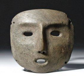 Pre-columbian Mezcala Greenstone Mask