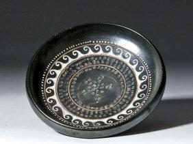 Greek Gnathian Teano Ware Painted Plate, Ex-christie's