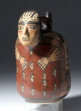 Superb Nazca Polychrome Figural Vessel