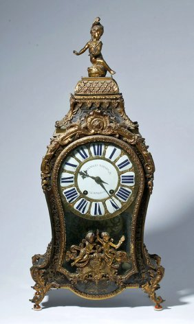 Important 18th C. French Rococo Clock - Charles Voisin