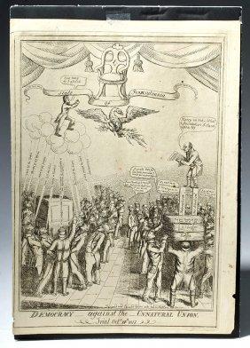 1817 Print Satirizing State Election - William Charles