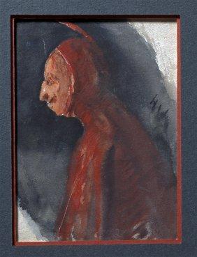 """""""little Devil"""" Watercolor By Henry George Keller"""