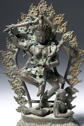 19th C. Indian Bronze Statuette Of Shiva