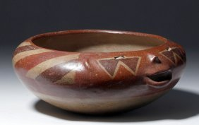 Gorgeous Chupicuaro Polychrome Face Bowl