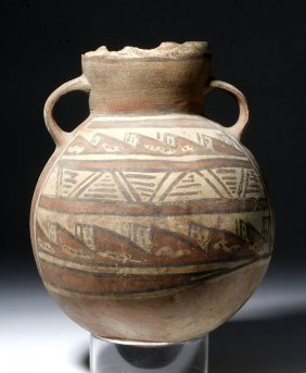 Large Chancay Polychrome Pottery Olla