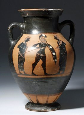 Greek Attic Belly Amphora - Achilles, Ex-sotheby's