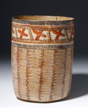 Maya Polychrome Cylinder, Basketweave Pattern