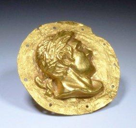 Extremely Fine / Rare Roman Gold Military Phalera