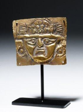 Lambayeque High Karat Gold Plaque