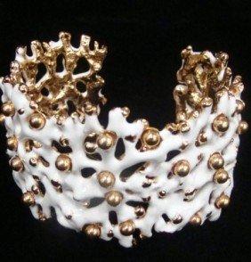 Kenneth Lane Faux White Coral Bracelet