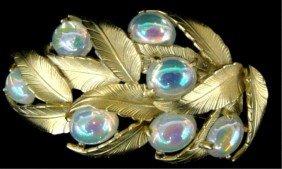 Schiaparelli Pin Gold Floral