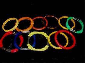 Lot Of 12 Bakelite/Lucite Bracelets