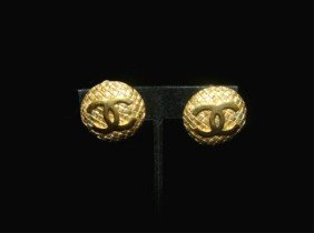 Pair Of Gold Chanel Earrings