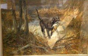 Allett?, Lithograph, Hunting Scene,