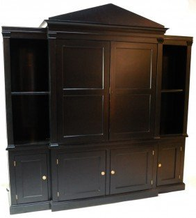 TWO PIECE BLACK ENTERTAINMENT CENTER