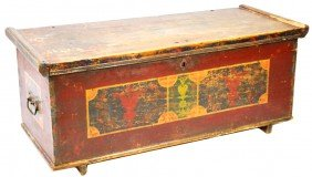 CONTINENTAL FOLK ART PAINTED BLANKET CHEST