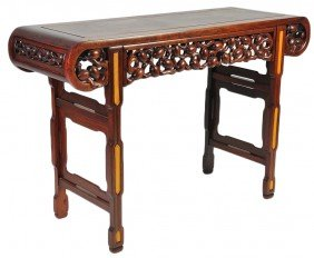CARVED MAHOGANY CHINESE ALTER TABLE