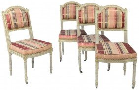 A SET OF FOUR LATE 19TH CENTURY FRENCH SIDE CHAIRS