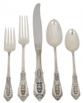 A 56 PIECE SET OF WALLACE STERLING SILVER FLATWARE