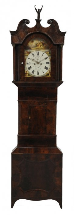 A GEORGE III LONGCASE MAHOGANY GRANDFATHER CLOCK La