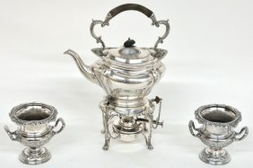 A GROUPING OF ANTIQUE SHEFFIELD SILVERPLATE 3 Piece
