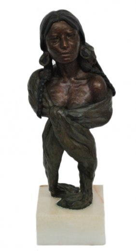 """INDIAN SPRING"" A WESTERN BRONZE"