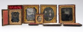 CASED PHOTOGRAPHIC IMAGES, LOT OF FIVE