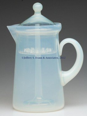 FRY ART GLASS COFFEE POT