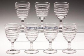 GREENTOWN NO. 14 / BEEHIVE WINE GLASSES, LOT OF SE