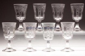 KANSAS / JEWEL AND DEWDROP WINE GLASSES, SET OF EI