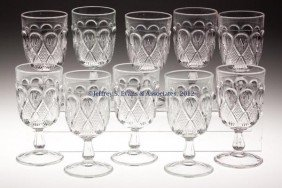MARYLAND / INVERTED LOOPS GOBLETS, SET OF TEN