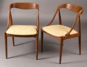 Johannes Anderson Danish Mid-century Modern Teak Pair