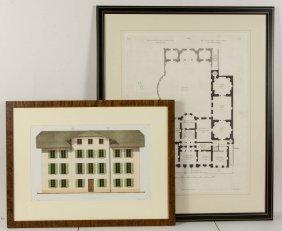 Robert Adam (british, 1728-1792) Architectural Plan Of