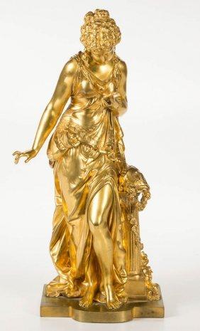 Gilt-brass / Bronze Neoclassical-style Sculpture
