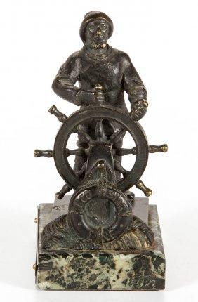 Nautical Red Star Line Bronze Statue