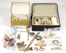 Assorted Vintage Costume Jewelry And Other Articles,