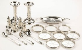 Assorted Sterling Silver Articles, Lot Of 19