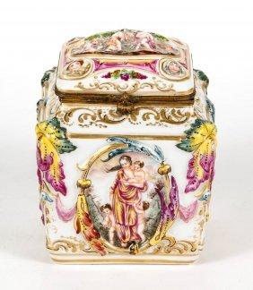 Continental Capo Di Monte Porcelain Box