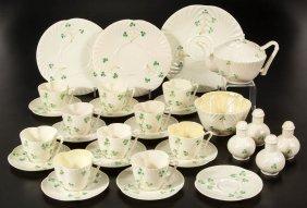 Irish Belleek Porcelain Articles, Lot Of 30