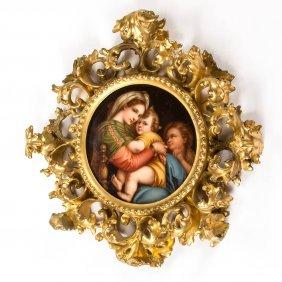 Italian Porcelain Portrait Plaque