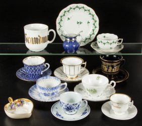 Assorted Ceramic Tea And Serving Articles, Lot Of 20
