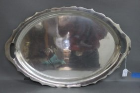 George V Sterling Silver Twin Handled Tray,