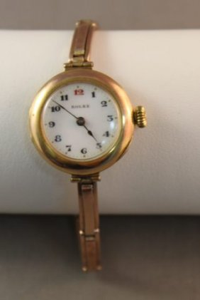 9 Carat Gold Rolex Ladies Wristwatch,c 1920,