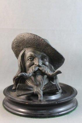 Unusual Victorian Bronze Inkwell,